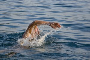 Man Swimming in open water